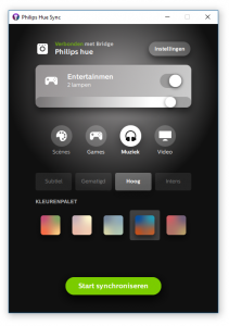 Philips Hue Sync app